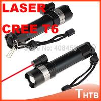 A100 flashlight tactical Cree XM-L T6 2000 Lumens High Power Flashlight! Genuine T6 flashlight mini torch shocker with Laser