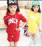 Girls Clothing Sets Letter Print Children Sport Set Off Shoulder Hoodies Skirts Kids Tracksuit Sportswear for Girls Suit