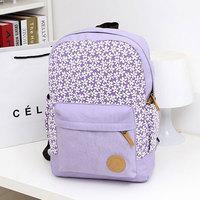 Floral Sweet canvas bolsas mochilas feminina school bags teenagers preppy  travel laptop sport backpack for women girls  SJ0145
