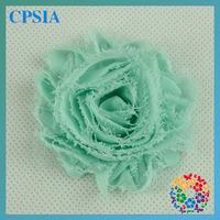 2014  New Arrival Candy Colour Shabby Chiffon Flower Cute Kid's Hair Accessories  Auqa Shabby Flower Wholesale   240pcs/lot