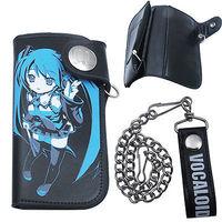 Wholesale 2014 Hatsune Miku Long Purse/Wallet Bag Cosplay Carry Chain Buckle Purse