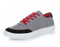 2014 new   Men breathable recreational canvas shoes Fashionable color matching shoes sandals
