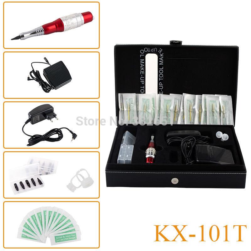 KX-101T Professional Tattoo Machine kits Permanent makeup eyebrows pen cosmetic Machine Complete Tattoo Machine kits(China (Mainland))