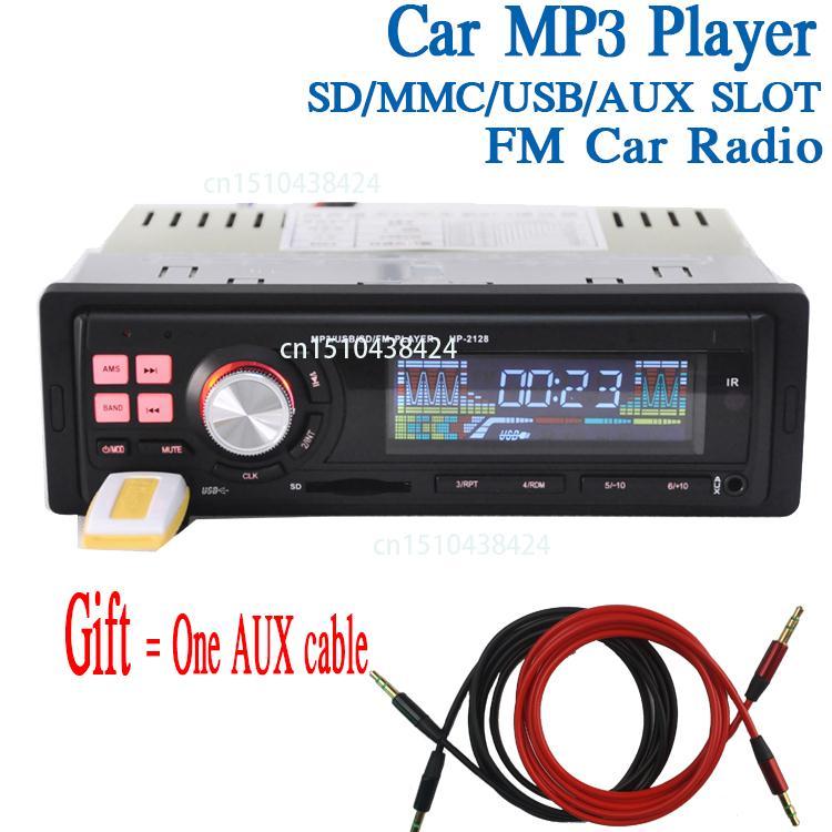 New Universal 1 Din Stereo Car Audio In-Dash Car MP3 Player Car Radio USB SD Slot FM radio station R