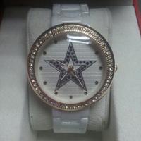 New Women Brand White/Black Ceramic Watch Star CZ Diamond Dress Wristwatches Valentine's day/Christmas gifts