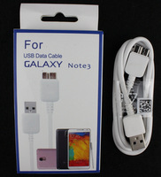 500pcs Factory Direct Sale Fast Charging Data Transmission 3.0 USB White Circle Cable For Samsung Note3 With Elegant package