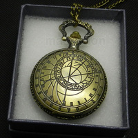 Antique Retro Bronze Pattern Pendant Chain Quartz Pocket Watch Men Women Gifts P208 With Gift Box