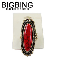 Bigbing jewelry fashion Red Turquoise elastic ring wedding ring nickel free Free shipping! G359