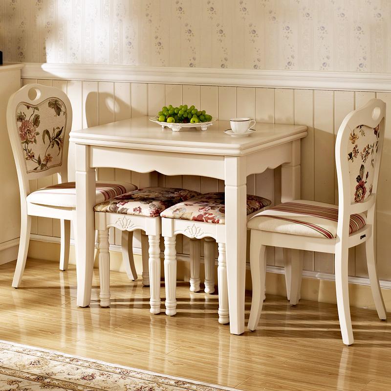 Modern minimalist fashion idyllic stretch of white wood folding dinette table small apartment portfolio sub Dining Table(China (Mainland))