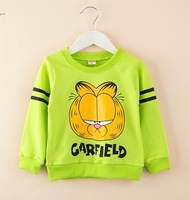 4pcs/lot New 2014 baby boys and girls fashion cute casual cartoon Garfield handsome children kids autumn clothes C022