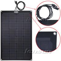 Fiberglass 60W 12V MONO Semi Flexible Solar Panel, Wholesale,Factory directly,fast ship,UK STOCK!