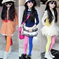 Free & Dropshipping Girls Kids Toddler Two-colors Leggings  Seamless Pantyhose  Leggings