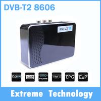 10 pcs HD DVB T2 8606 Terrestrial Receiver DVB-T DVB-T2 MPEG-2/-4 H.264 Support USB/HDMI Mini Set Top Box