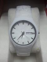 New Fashion Men Brand R White Ceramic Watch Women Dress Wristwatches Valentine's day/Christmas gifts