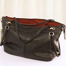 Бесплатная доставка осень и зима пр женская сумочка свободного покроя all-матч 100% кожа сумка из натуральной кожи пельмени