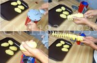 Wholesale (2pcs / lot) free shipping 2014 New HIGH QUALITY Tornado Potato Spiral Slicer Cutter, Spiral slicer potato chips