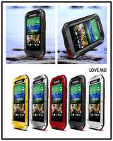 Love Mei Powerfull Dirtproof Waterproof Metal Case For HTC one E8 + Gorilla Glass Free DHL MOQ:20pcs