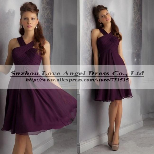 Eggplant bridesmaid dresses plus size