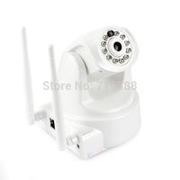 P2P Plug Play CCTV Security IR IP Camera Dual Wifi Antenna Wireless 720p HD Pan Tilt 1MP Webcam SD Card Audio Microphone Hotspot