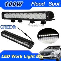 CREE 100W LED Work Light Bar Spot Flood Beam 12V 24V SUV Mini 4X4 Truck 4WD ATV  IP68 Offroad  Driving Worklight