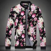 2014 new arrival autumn flower jacket plus size outerwear jacket ,fashion jacket ,casual designer jacket ,size 5XL free shipping