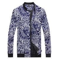 Free shipping Spring&Autumn Casual Jacket Men Coat Men's Fashion Jacket male flower jacket slim male jacket peacock