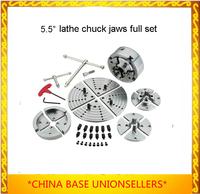 "Free shipping 5.5"" Lathe chuck jaws  Flat Jaws   Woodturning   Lathe Chucks  woodworking tools full set with case"