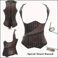 Plus Size  S-6XL Kopcet Corset Steampunk Waist Training Corsets Gothic Corpetes e espartilhos Corselet Sexy Women Corset  Top