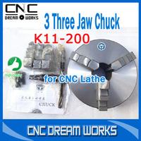 3 Three Jaw self-centering lathe Chuck K11-200 lathe collet chuck jaws lathe chuck tools of lathe GA010D