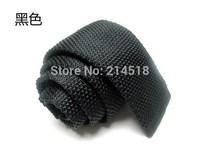 2014 New,Mens fashion black Skinny(5cm) Knitting Neck Ties,Man business knitted ties,Free shipping