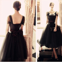 2014 New Arrival Formal Dress Fashion Pompon Formal Dress Bow Sweet Princess Bridesmaid Dress