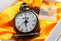 Alchemist anime pocket watch of steel/steel alchemist of serpentine logo pocket watch