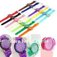 10pcs Fashionable Luxury Unisex Geneva Silicone Crystal Jelly Gel Quartz Analog Sport Wrist Watch wholesale Dropshipping