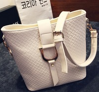 Hot Selling Women PU Leather Handbag,Tote Shoulder Bags, Large Capacity PU Woven Bags Hot Women 2014 Handbag