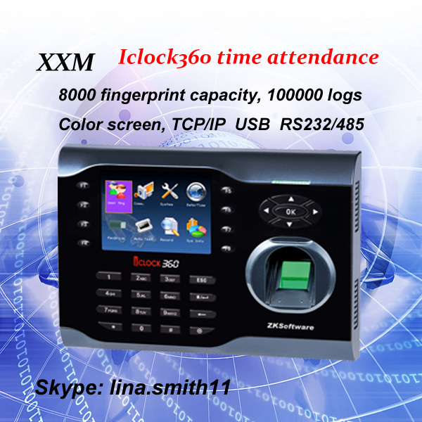 High speed TCP/IP time attendance with card reader linux system 8000 users fingerprint reader scanner(China (Mainland))