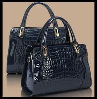 2015 New Crocodile style handbags women high pu leather bag in totes brand fashion bags women lady Sfactory sale