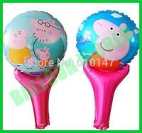 Free shipping 100pcs/lot peppa pig balloon foil balloon party decoration balloon