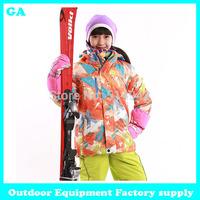 Dropshipping high quality fashion 2014 winter down coat wadded ski jacket thicken warm kids girls outerwear snow jacket children