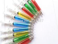 10x Needle Tube Writing Ball Point Syringe Pen Blue Ink Ballpoint Wholesale New