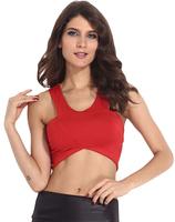 NEW 2014 FASHION WOMEN V-NECK SEXY SHORT T SHIRT M/L