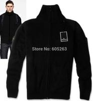 Winter minimalist Italian style men's fashion knit sweater white/GRay  free shipping