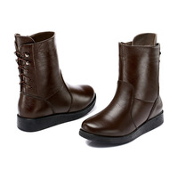 Free shipping Guciheaven 7806 women high boots Mid-Calf boots genuine leather boots lady casual shoes snow boots lady flats