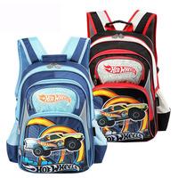 Hot Wheels high quality brand backpack children school bags boys mochilas fashion brand new 2014 book bags blue red  HW002