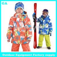 Dropshipping winter brand Outdoor Windproof Sportwear Outerwear Coats kid's Skiing Jackets boys girls snowboard jackets children