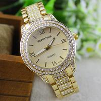 New 2014 Fashion women dress watches women rhinestone watches diamond bracelet gemstone stainless steel watches