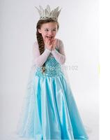 2T-11T Fashion Girls Halloween Party Dress  Princess Elsa Dresses Little Baby Casual Beautiful Dress