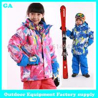 Dropshipping 2014 winter brand thinken Children Outdoor snowboard waterproof Outerwear Coats kid's Skiing Jackets for boys girls