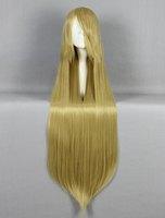 Cosplay Wigs 100 cm Elegant long straight hair wigs