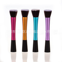Free shipping 2014 new style makeup brush 4 different color brush single makeup brush
