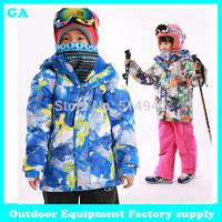 Dropshipping hot fashion ski snow winter jacket sports Waterproof windproof breathable boy winter coat outdoor jacket children